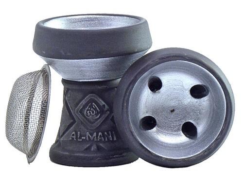 Al-Mani Steinkopf mit Sieb silber
