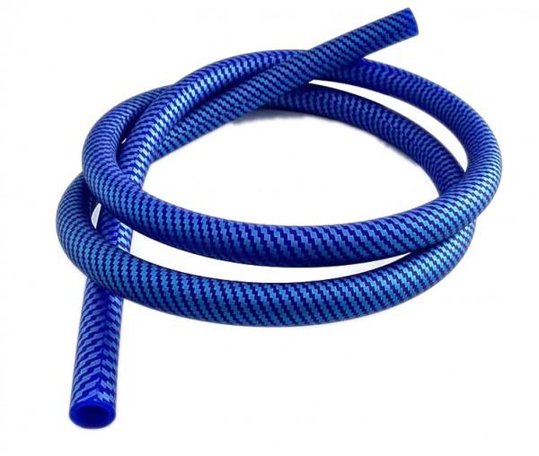Shisha Schlauch mit Carbonmuster blau