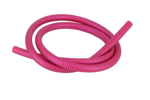 Shisha Schlauch mit Carbonmuster pink